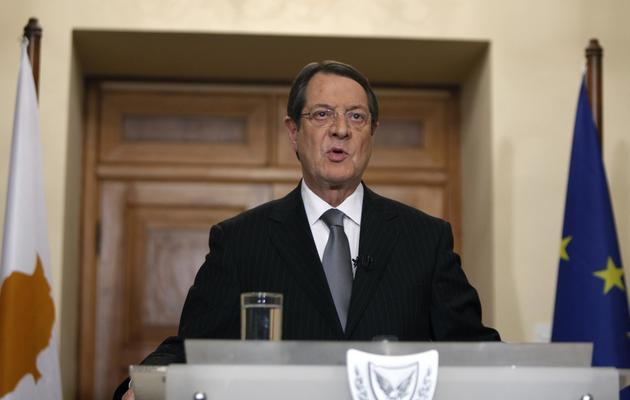 Le président chypriote Nicos Anastasiades, le 25 mars 2013 à Nicosie [Petros Karadjias / Pool/AFP/Archives]
