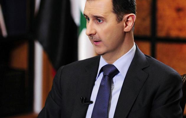 Le président Bachar al-Assad au cours d'une interview accordée à l'agence officielle syrienne Sana, à Telam et Clarin, le 18 mai 2013 à Damas [ / Sana/AFP]