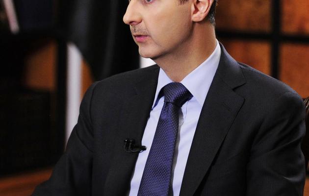 Photo du président syrien Bachar al-Assad à Damas, diffusée par l'agence officielle Sana le 18 mai 2013 [ / Sana/AFP/Archives]