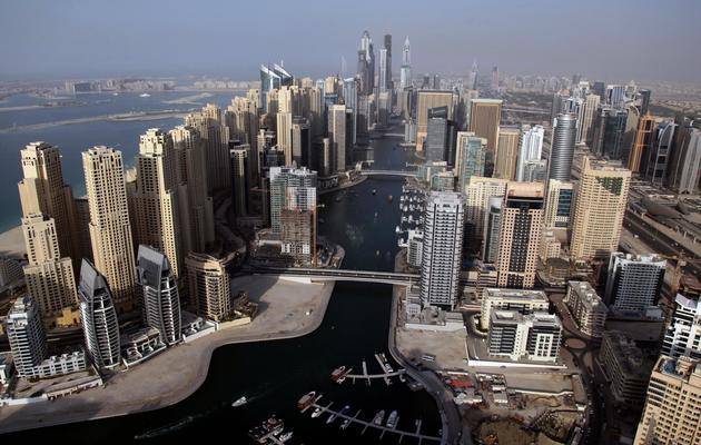Vue aérienne de la marina de Dubaï, le 12 décembre 2012 [Marwan Naamani / AFP/Archives]
