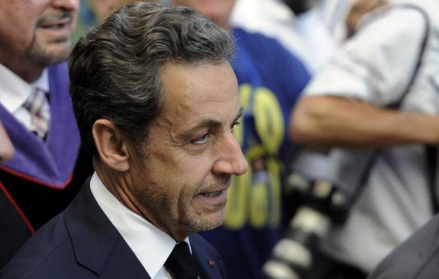 Nicolas Sarkozy le 22 mai 2013 à Netanya en Israël [David Buimovitch / AFP/Archives]