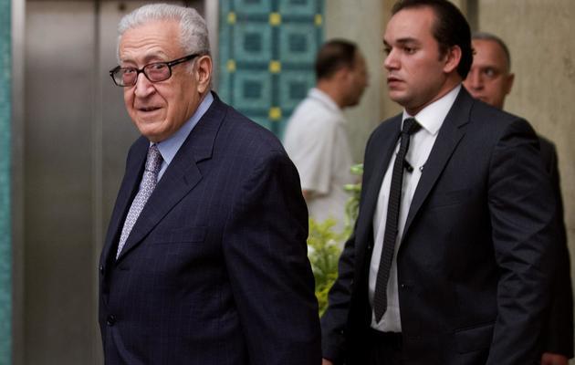 L'envoyé spécial de l'ONU en Syrie Lakhdar Brahimi au cours d'une réunion de la Ligue Arabe au Caire le 23 mai 2013 [Gianluigi Guercia / AFP/Archives]