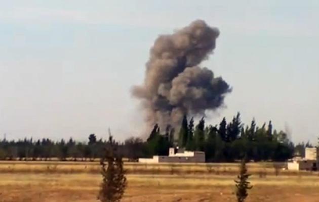 Image tirée de YouTube montrant le bombardement de Qousseir par le Hezbollah chiite libanais, le 24 mai 2013 [ / YouTube/AFP/Archives]