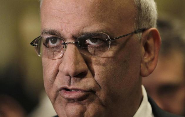 Le négociateur palestinien Saëb Erakat, le 26 mai 2013 au Forum économique mondial en Jordanie [Khalil Mazraawi / AFP/Archives]