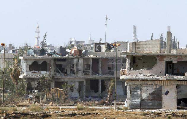 Vue de la ville de Qousseir, en Syrie, le 25 mai 2013 [ / AFP/Archives]
