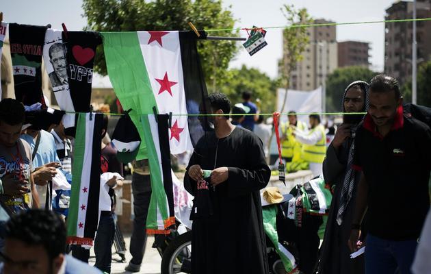Des islamistes défilent au Caire contre le régime syrien, le 14 juin 2013 [Gianluigi Guercia / AFP]