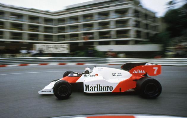 Le Français Alain Prost, lors de sa victoire au GP de Monaco le 3 juin 1984 [J.J Sauciat / AFP/Archives]