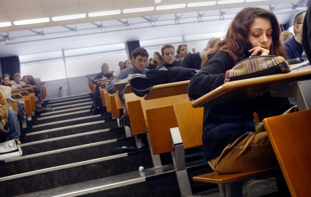 Des étudiantsdans un amphitéâtre [Fred Dufour / AFP/Archives]