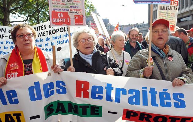Manifestation de retraités le 16 octobre 2008 à Lille [Philippe Huguen / AFP/Archives]