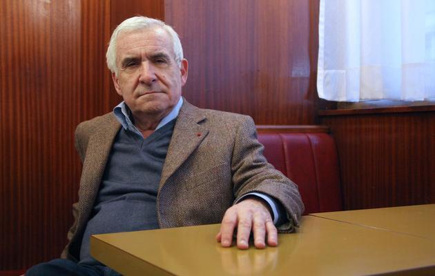 """L'ancien """"patron"""" des Renseignements généraux (RG) Yves Bertrand, le 21 janvier 2009 à Paris [Patrick Kovarik / AFP/Archives]"""