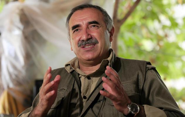 Le chef militaire du Parti des travailleurs du Kurdistan (PKK), Murat Karayilan, le 28 octobre 2009 dans les montagnes de Qandi, en Irak [Mustafa Ozer / AFP/Archives]