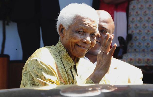 Nelson Mandela le 12 février 2010 dans sa résidence de à  Cape Town [ / AFP/Archives]