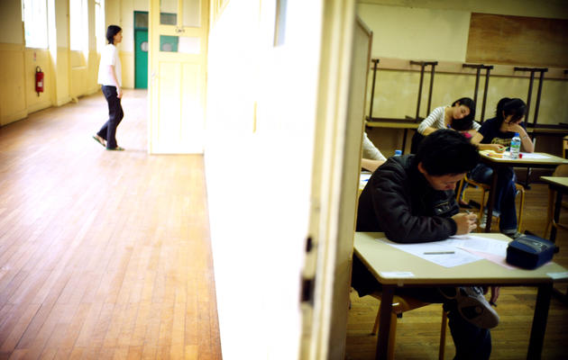 Des élèves passent le bac [Olivier Laban-Mattei / AFP/Archives]