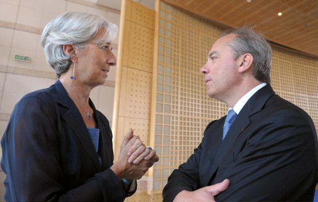 Christine Lagarde et Stéphane Richard le 28 juin 2010 au ministère de l'Economie à Paris [Eric Piermont / AFP]