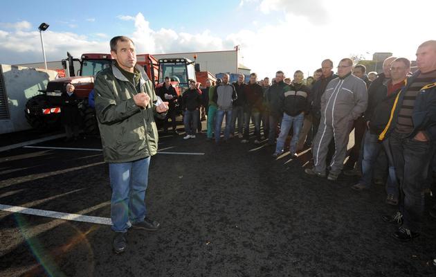 Le vice-président de la FNSEA, Joël Limouzin, le 7 novembre 2010 à Cholet près de Nantes [Frank Perry / AFP/Archives]
