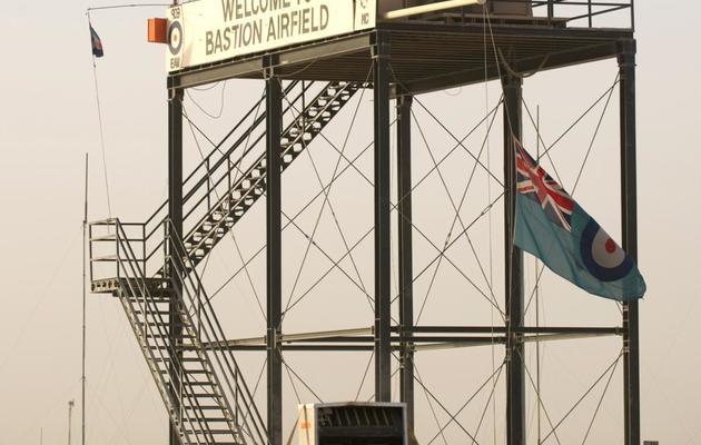 La base militaire britannique de Camp Bastion en Afghanistan, le 7 décembre 2010 [Leon Neal / Pool/AFP/Archives]