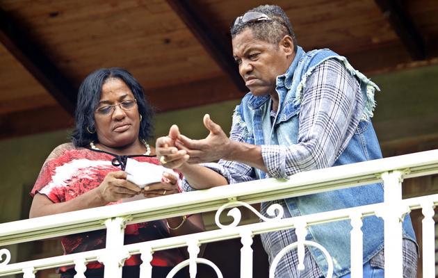 Alexandre et Marie-Jo Dol, les parents de Thierry Dol le 24 décembre 2012 à La Martinique [Patrice Coppee / AFP/Archives]