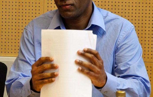 Le Singapourien Wilson Raj Perumal, condamné pour matches truqués lors du son procès au tribunal de Rovaniemi en Finlande, le 22 juin 2011 [Kaisa Siren / AFP/Archives]