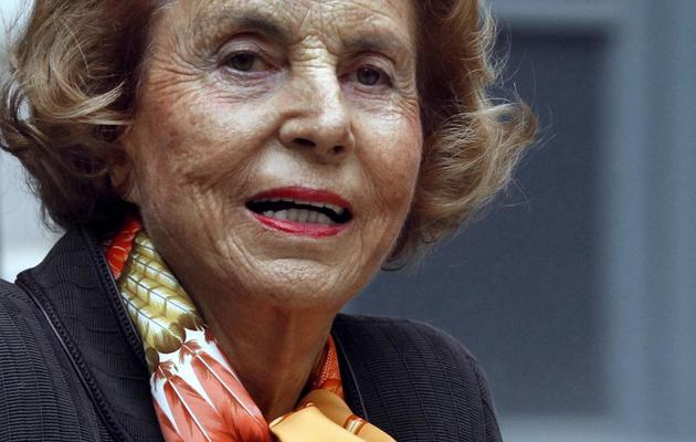 Liliane Bettencourt, le 12 octobre 2011 à Paris [Francois Guillot / AFP/Archives]