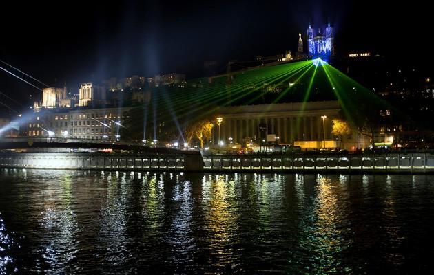 Vue de Lyon durant la Fête des Lumières, le 8 décembre 2011 [Jean-Philippe Ksiazek / AFP/Archives]
