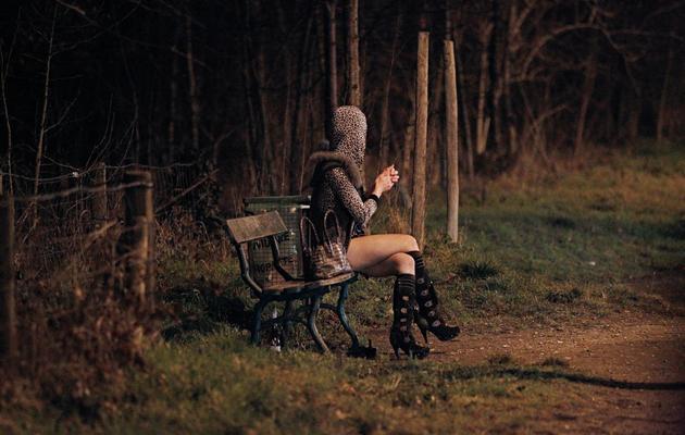 Photo prise le 2 mars 2012 d'une prostituée au Bois de Boulogne [Thomas Samson / AFP/Archives]