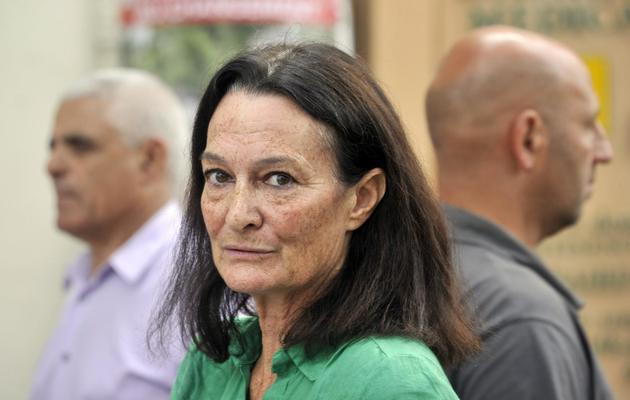 La candidate socialiste aux législatives de juin 2012 dans le Vaucluse, Catherine Arkilovitch, le 3 juin 2012 à  L'Isle-sur-la-Sorgue [Boris Horvat / AFP/Archives]