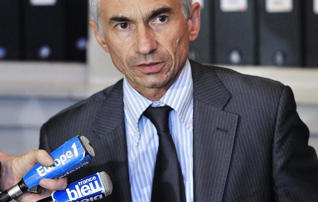 Le procureur de la République à Toulon, Xavier Tarabeux, parle aux médias le 19 juin 2012 à Toulon [Boris Horvat / AFP/Archives]