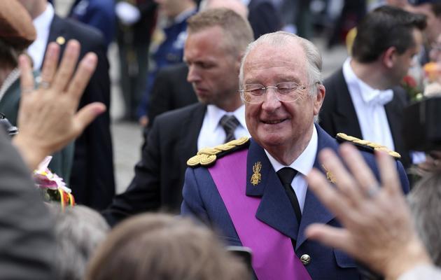 Le roi des Belges Albert II à Bruxelles, le 21 juillet 2012 à Bruxelles [Nicolas Maeterlinck / Belga/AFP/archives]