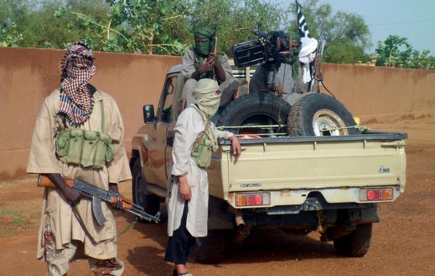 Des combattants du mouvement Ansar Dine à Kidal, le 7 août 2012 [Romaric Ollo Hien / AFP/Archives]