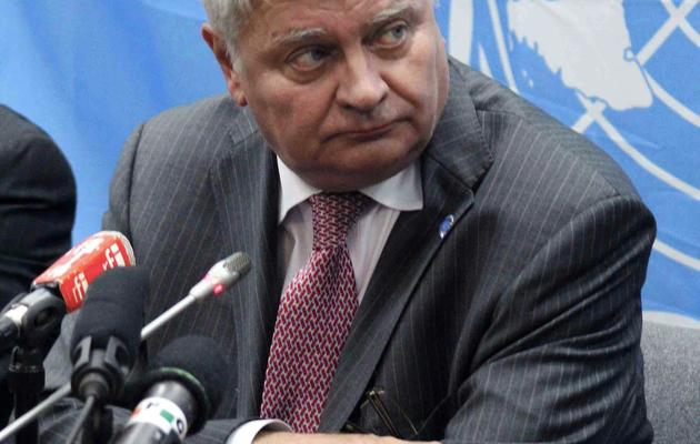 Hervé Ladsous, chef des opérations de maintien de la paix de l'ONU, le 10 septembre 2012 à Kinshasa, au Congo [Antoine Guide / AFP/Archives]