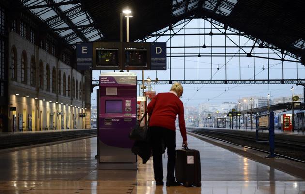 Jour de grève de la SNCF à la gare Saint-Charles à Marseille, le 26 octobre 2013 [Anne-Christine Poujoulat / AFP/Archives]