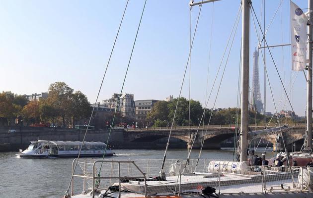 Photo prise le 25 octobre 2012 de la goélette océanographique Tara à Paris, près du pont Alexandre III [Thomas Samson / AFP/Archives]