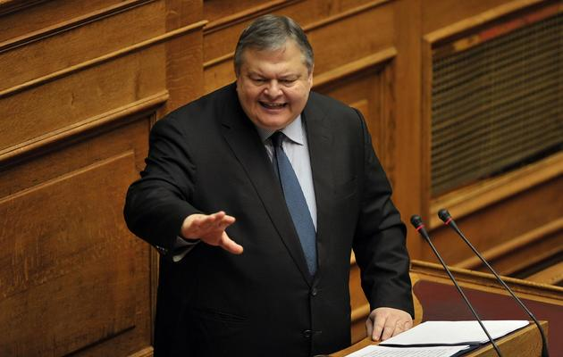 Le chef du Pasok le parti socialiste grec,  Evangélos Vénizélos, le 11 novembre 2012 [Louisa Gouliamaki / AFP/Archives]