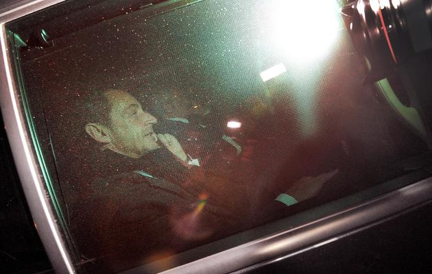 Nicolas Sarkozy à la sortie du palais de justice de Bordeaux le 22 mars 2013 [Pierre Andrieu / AFP]