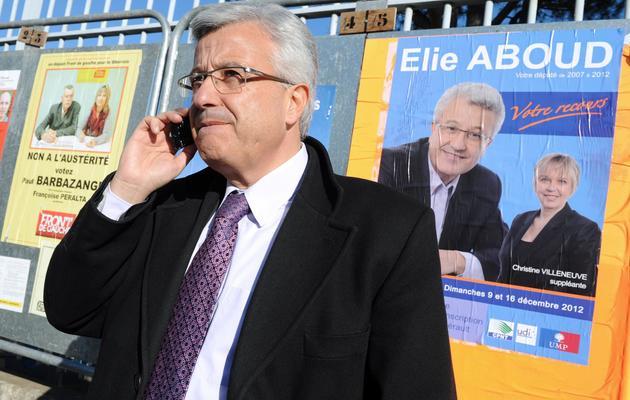 Elie Aboud en campagne à Béziers, le 9 décembre 2012 [Pascal Guyot / AFP/Archives]
