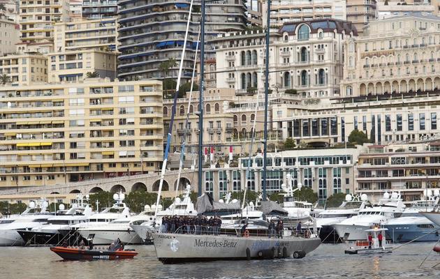 Le voilier Pangaea à son arrivée dans le port de Monaco le 13 décembre 2012 [Valery Hache / AFP]