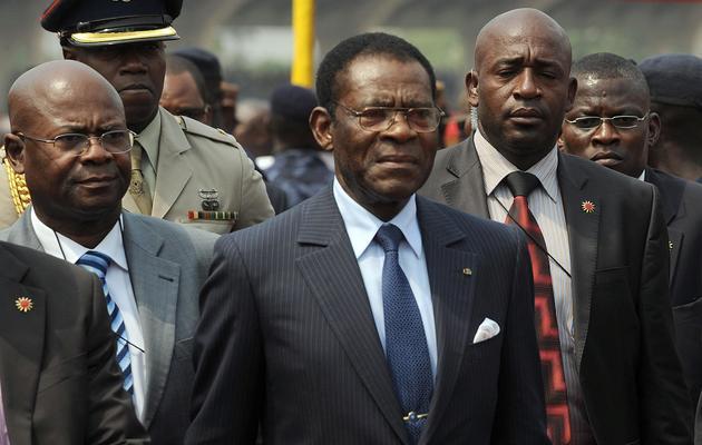 Le président équato-guinéen Teodoro Obiang lors d'un déplacement au Ghana, en janvier 2013 [Pius Utomi Ekpei / AFP/Archives]