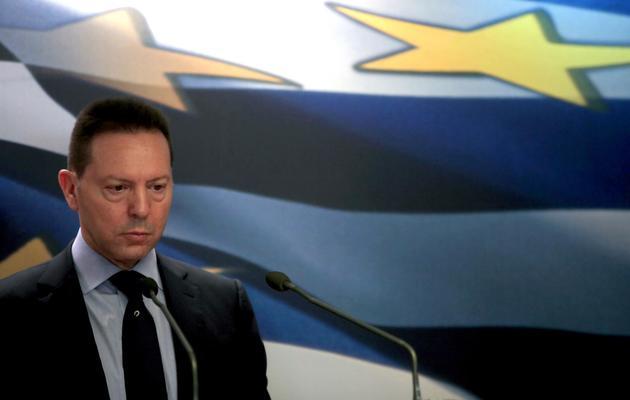 Le ministre grec des Finances, Yannis Stournaras, le 6 février 2013 à Athènes [Angelos Tzortzinis / AFP/Archives]