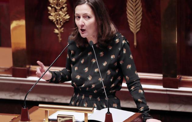 La rapporteure du comité des Finances, Karine Berger (PS), le 12 février 2013 à l'Assemblée nationale à Paris [Jacques Demarthon / AFP/Archives]