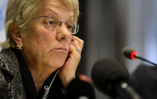 La magistrate suisse Carla Del Ponte à Genève le 18 février 2013 [Fabrice Coffrini / AFP/Archives]
