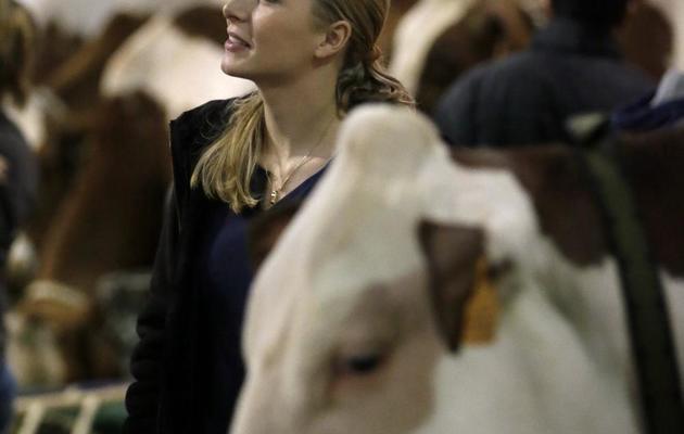 La député (FN) Marion Maréchal-Le Pen en visite au salon de l'agriculture, le 28 février 2013 [Kenzo Tribouillard / AFP/Archives]