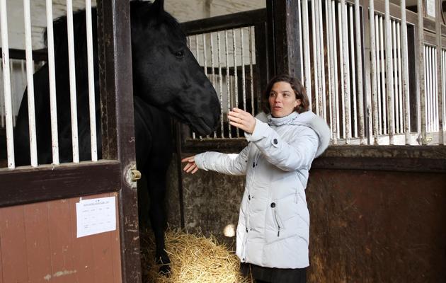 Sophie Lemaire, directrice du Haras du Pin, dans l'Orne, le 4 mars 2013 [Charly Triballeau / AFP]
