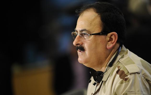 Le chef militaire de l'opposition syrienne, le général Sélim Idriss, le 6 mars 2013 à Bruxelles [John Thys / AFP/Archives]