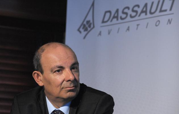 Eric Trappier, PDG de Dassault Aviation, lors de la présentation des résultats 2012 du groupe, le 14 mars 2013 près de Paris [Eric Piermont / AFP/Archives]