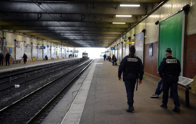 La gare de Grigny desservie par le RER D, le 19 mars 2013 [Martin Bureau / AFP/Archives]