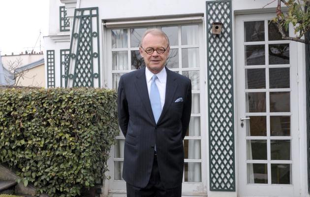 Patrick Thomas, PDG de la maison Hermès, pose le 21 mars 2013 à Paris [Eric Piermont / AFP/Archives]