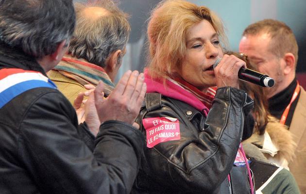 rigide Barjot lors de la manifestation contre le mariage homosexuel le 24 mars 2013 à Paris [Pierre Andrieu / AFP]