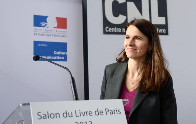La ministre de la Culture Aurélie Filippetti à Paris lors du salon du livre à Paris, le 25 mars 2013 [Eric Feferberg / AFP/Archives]