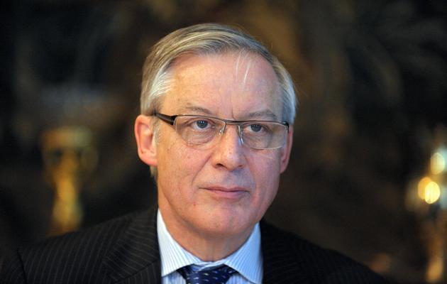 Christian Noyer, gouverneur de la Banque de France, le 28 mars 2013 à Paris [Eric Piermont / AFP/Archives]