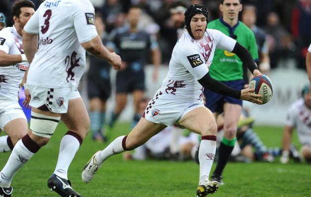 Camille Lopez, lors d'un match de Top 14 entre Bordeaux et Bayonne, le 30 mars 2013 à Bègles [Nicolas Tucat / AFP/Archives]